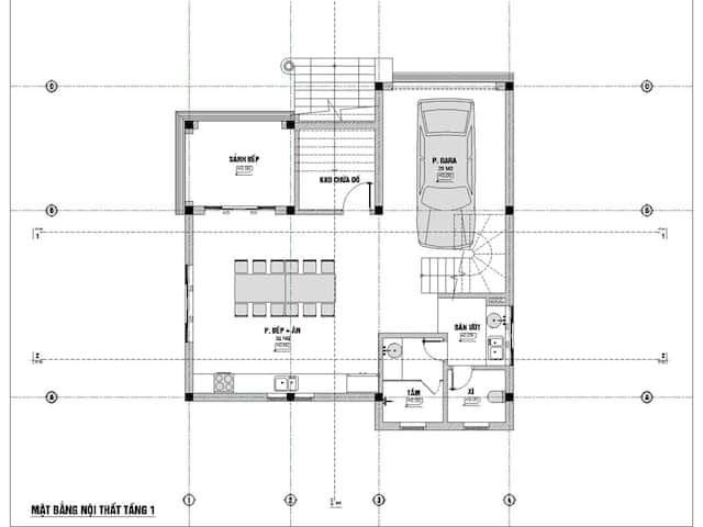 biet thu 3 tang 9x12 tan co dien 5 - Thiết kế biệt thự 3 tầng tân cổ điển sang trọng diện tích  9x12m