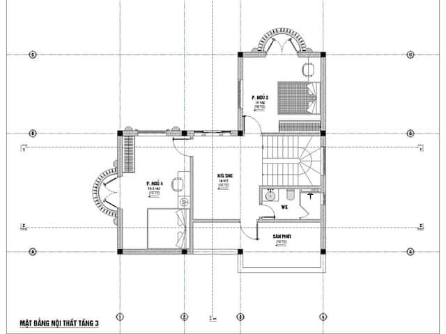 biet thu 3 tang 9x12 tan co dien 7 - Thiết kế biệt thự 3 tầng tân cổ điển sang trọng diện tích  9x12m