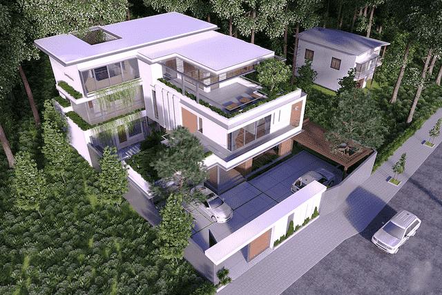 biet thu 300m2 3 tang hien dai 5 - 9 Mẫu thiết kế biệt thự hiện đại được nhiều lượt thích