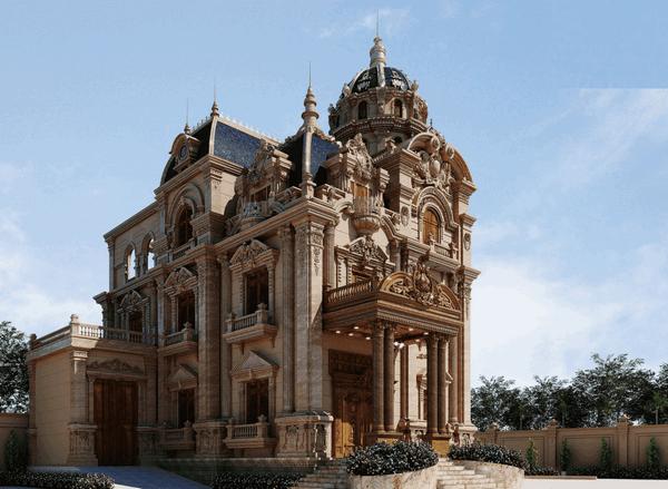 biet thu co dien 3 tang 14 ty 2 - Thiết kế biệt thự lâu đài 3 tầng cổ điển sang trọng quyền quý