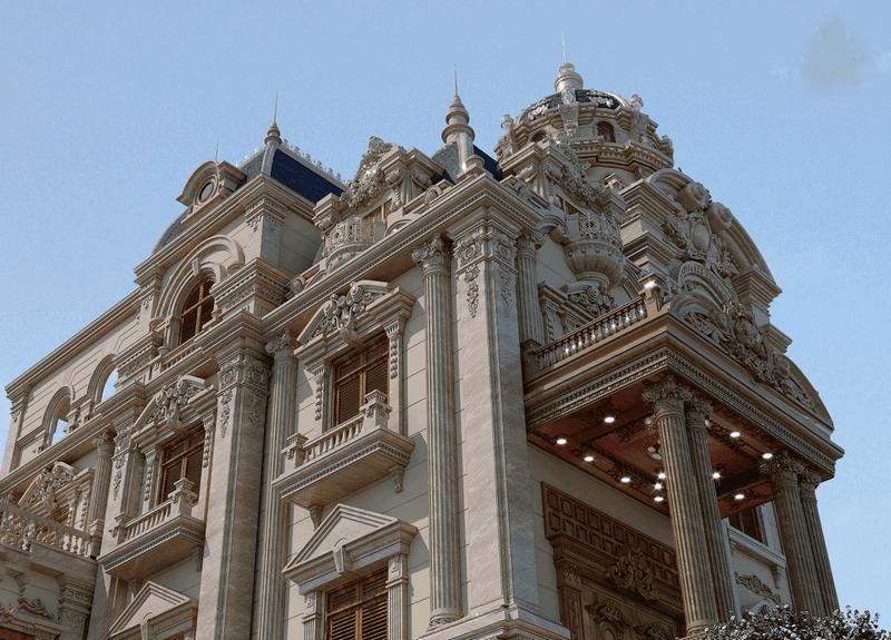 biet thu co dien 3 tang 14 ty 4 - Thiết kế biệt thự lâu đài 3 tầng cổ điển sang trọng quyền quý