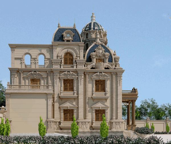 biet thu co dien 3 tang 14 ty 6 - Thiết kế biệt thự lâu đài 3 tầng cổ điển sang trọng quyền quý