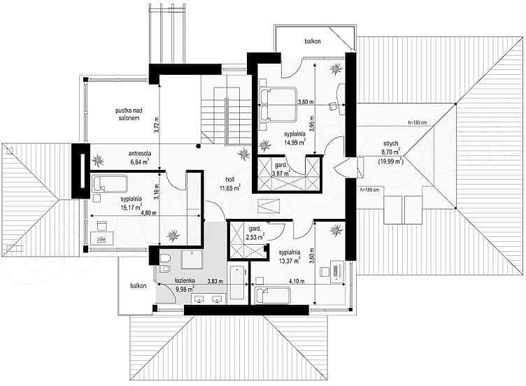 biet thu dep 2019 t8 7 ms001cvb - Biệt thự 2 tầng hiện đại sân vườn