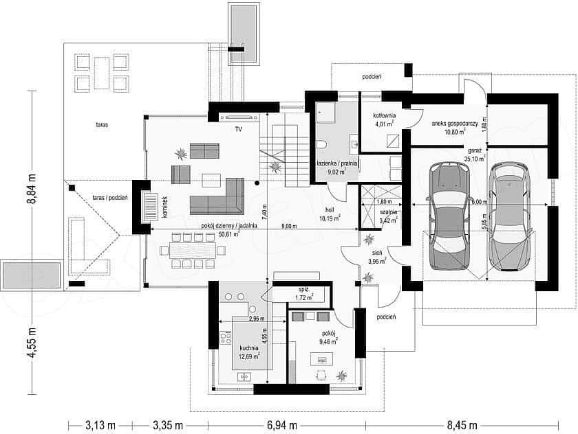 biet thu dep 2019 t8 7 ms001dsa - Biệt thự 2 tầng hiện đại sân vườn