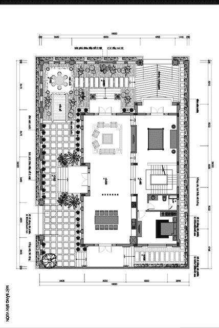 biet thu mai thai 3 tang 270m2 6 - Thiết kế biệt thự đẹp mái thái 3 tầng