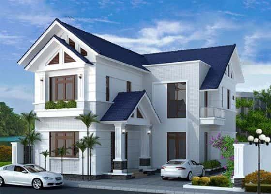 biet thu mai thai3 560x400 - Tham khảo các mẫu nhà 2 tầng mái thái đẹp