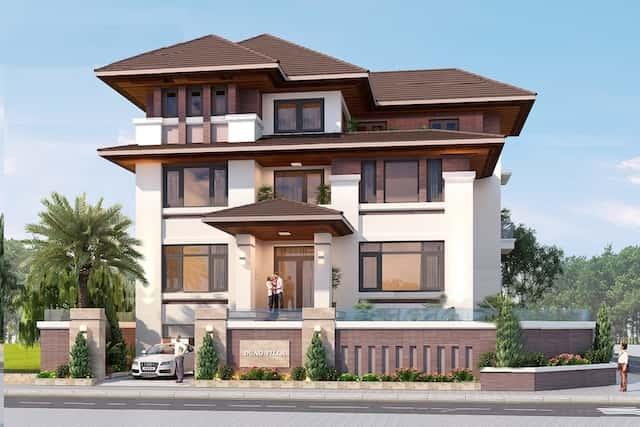 biet thu mat tien 20m hien dai 1 - Thiết kế biệt thự 3 tầng hiện đại mặt tiền 20m đẹp