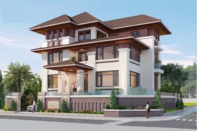 biet thu mat tien 20m hien dai 2 - Thiết kế biệt thự 3 tầng hiện đại mặt tiền 20m đẹp