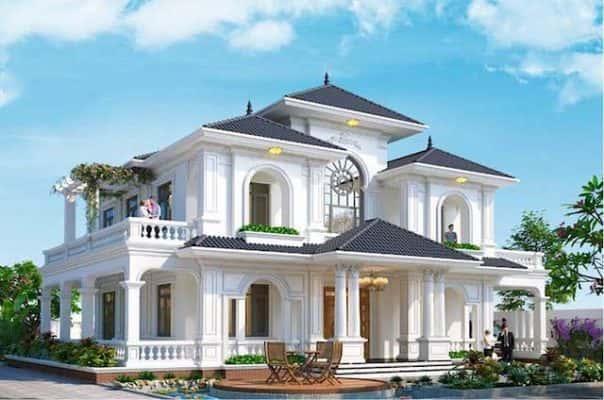 biet thu vuon 2 tang 4 phong ngu dep 2 604x400 - Thiết kế biệt thự vườn tân cổ điển 2 tầng 4 phòng ngủ