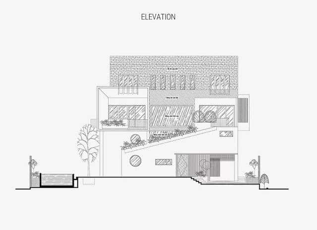 biet thu vuon 2 tang 4 - Thiết kế biệt thự vườn 2 tầng độc đáo phá cách