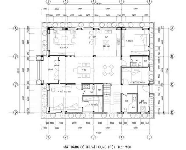 biet thu vuon 2 tang mat tien 12m 5 - Thiết kế biệt thự vườn 2 tầng mái thái đẹp