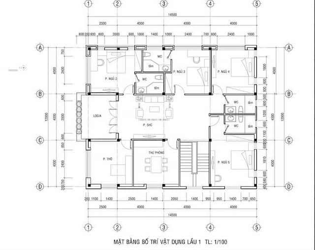 biet thu vuon 2 tang mat tien 12m 6 - Thiết kế biệt thự vườn 2 tầng mái thái đẹp