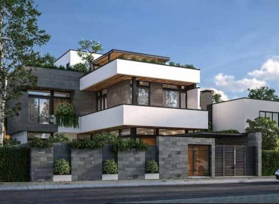 biet thu vuon 3 tang 12x20m 3 547x400 - Thiết kế biệt thự 3 tầng kiến trúc sân vườn đẹp