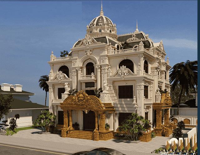 mau biet thu 200m2 co dien 3 tang 2 - Thiết kế biệt thự 3 tầng kiến trúc cổ điển sang trọng đẳng cấp