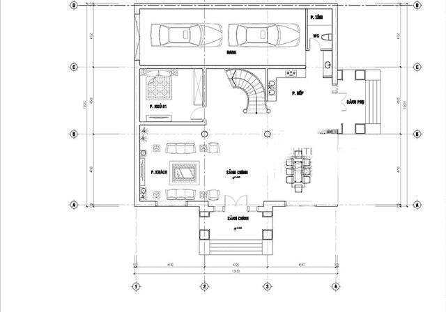 mau biet thu 200m2 co dien 3 tang 3 - Thiết kế biệt thự 3 tầng kiến trúc cổ điển sang trọng đẳng cấp