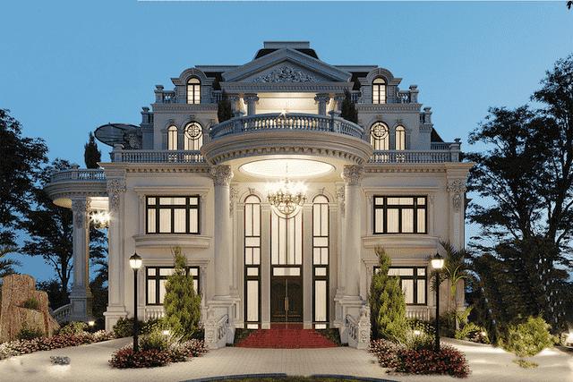 mau biet thu mat tien 11m dep 1 - Thiết kế biệt thự 4 tầng kiến trúc tân cổ điển đẹp