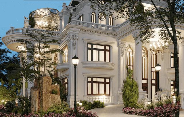 mau biet thu mat tien 11m dep 5 - Thiết kế biệt thự 4 tầng kiến trúc tân cổ điển đẹp