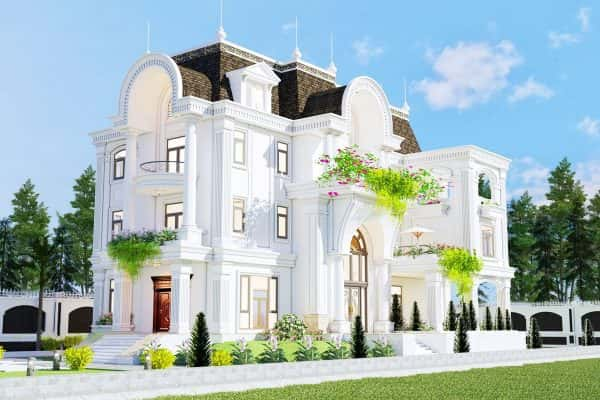 mau nha biet thu dep 3 tang 1 600x400 - Thiết kế biệt thự đẹp tân cổ điển 3 tầng đẳng cấp