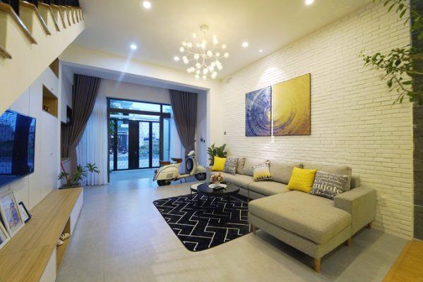 nội thất phòng khách nhà ống 3 599x400 - Thiết kế nội thất nhà ống