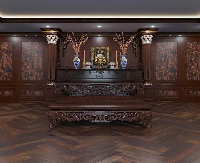 thiet ke noi that biet thu mau biet thu 200m2 co dien 3 tang 14 - Thiết kế biệt thự 3 tầng kiến trúc cổ điển sang trọng đẳng cấp