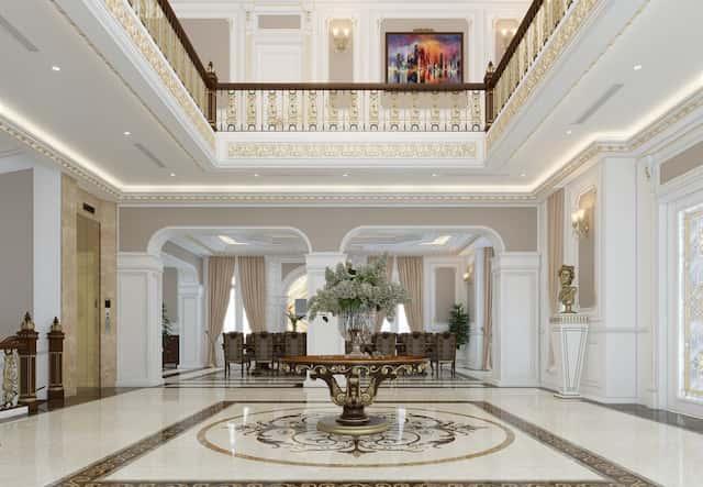 thiet ke noi that biet thu mau biet thu 200m2 co dien 3 tang 6 - Thiết kế biệt thự 3 tầng kiến trúc cổ điển sang trọng đẳng cấp