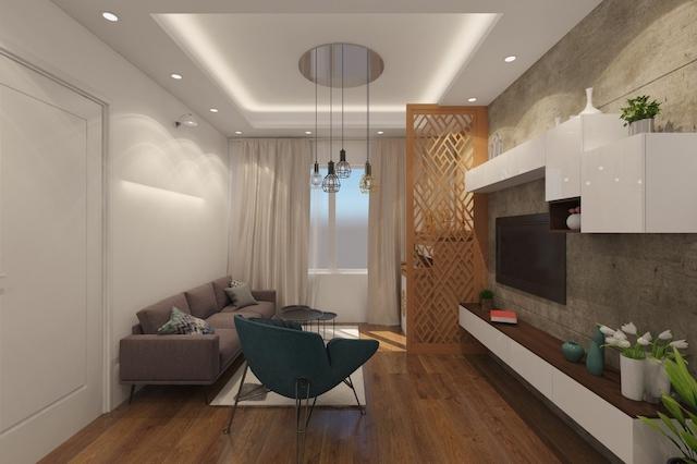 thiet ke noi that chung cu 70m2 1 - Thiết kế nội thất chung cư 70m2 đẹp sang ai cũng mê khi ghé thăm