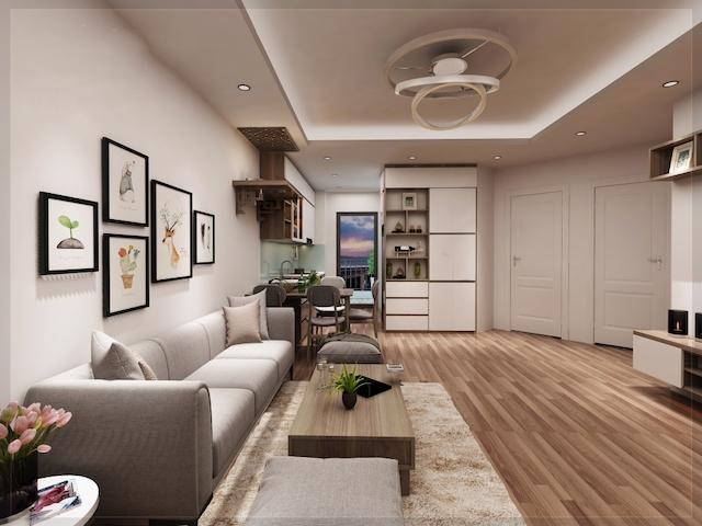 thiet ke noi that chung cu 70m2 4 - Thiết kế nội thất chung cư 70m2 đẹp sang ai cũng mê khi ghé thăm