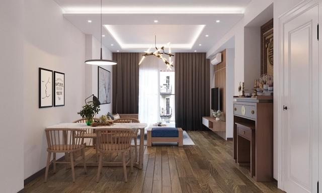 thiet ke noi that chung cu 70m2 - Thiết kế nội thất chung cư 70m2 đẹp sang ai cũng mê khi ghé thăm