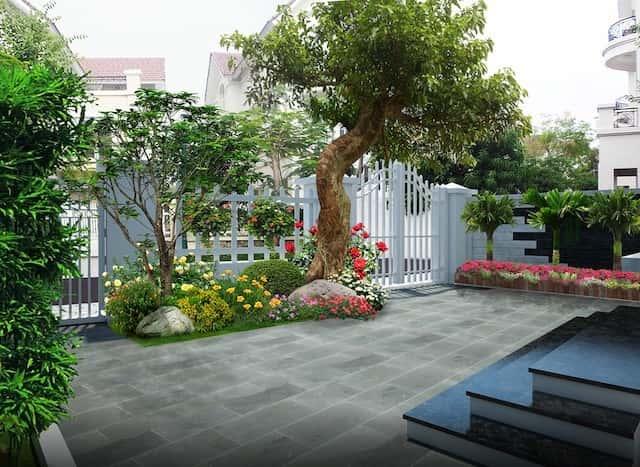 thiet ke san vuon 4 - Tham khảo các mẫu thiết kế biệt thự nhà vườn 2 tầng đẹp, chi phí xây dựng tiết kiệm