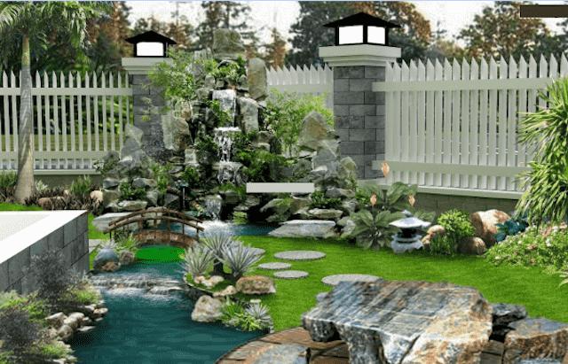 thiet ke san vuon 5 - Tham khảo các mẫu thiết kế biệt thự nhà vườn 2 tầng đẹp, chi phí xây dựng tiết kiệm