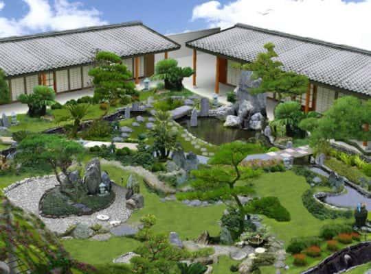 tieu canh san vuon 8 6 580x430 540x400 - 8 Nguyên tắc cơ bản trong thiết kế sân vườn