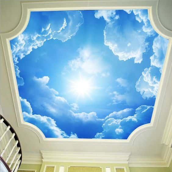 tran may - Hoạ sĩ Vẽ trần mây 3d đẹp