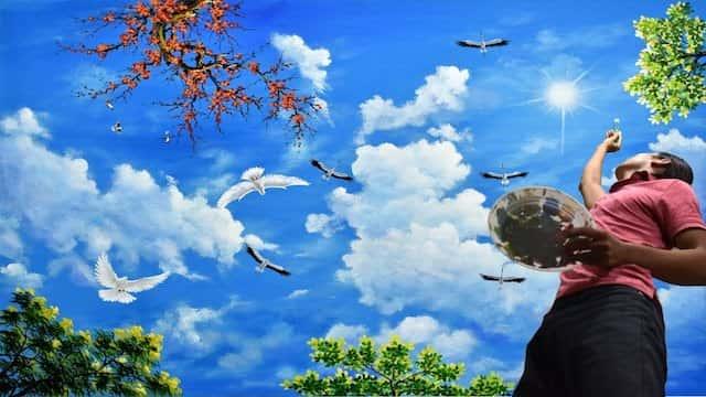 ve tran may dep 1 - Hoạ sĩ Vẽ trần mây 3d đẹp