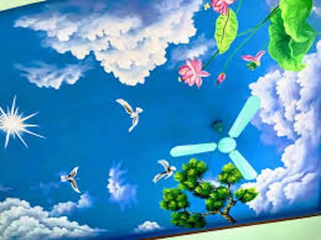 ve tran may dep 2 - Hoạ sĩ Vẽ trần mây 3d đẹp