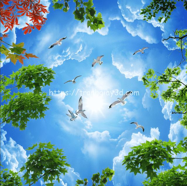 ve tran may dep 3 - Hoạ sĩ Vẽ trần mây 3d đẹp