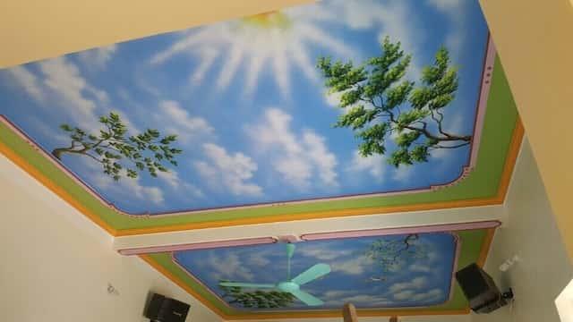 ve tran may dep 6 - Hoạ sĩ Vẽ trần mây 3d đẹp