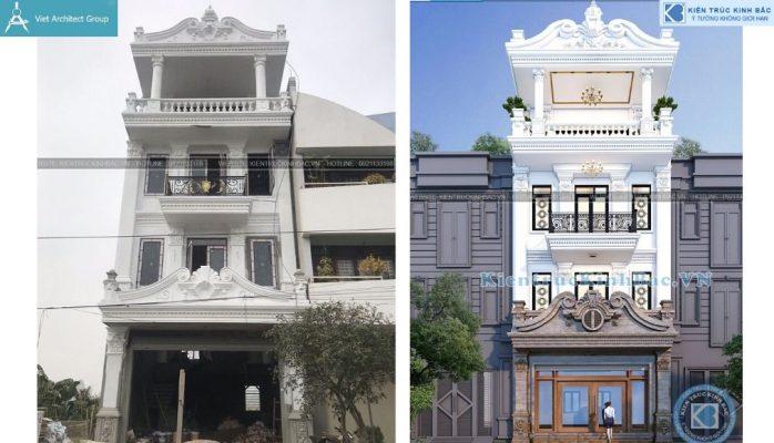Thiết kế không tên 6 698x400 - Công trình nhà phố 4 tầng được thiết kế theo phong cách kiến trúc tân cổ điển