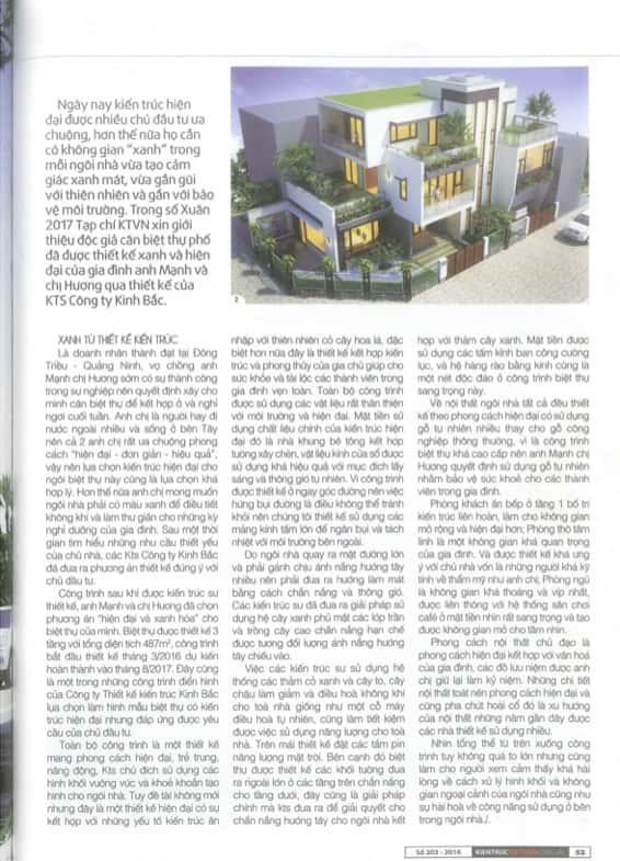 content2 - Công trình Biệt thự hiện đại Đông Triều - Quảng Ninh đăng trên tạp chí kiến trúc Việt Nam