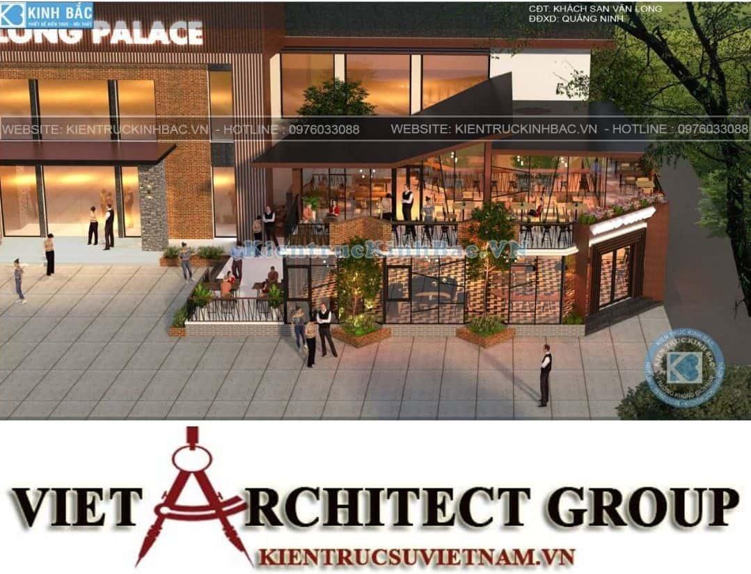 1 14 - Thiết kế tổ hợp kinh doanh nhà hàng Vân Long