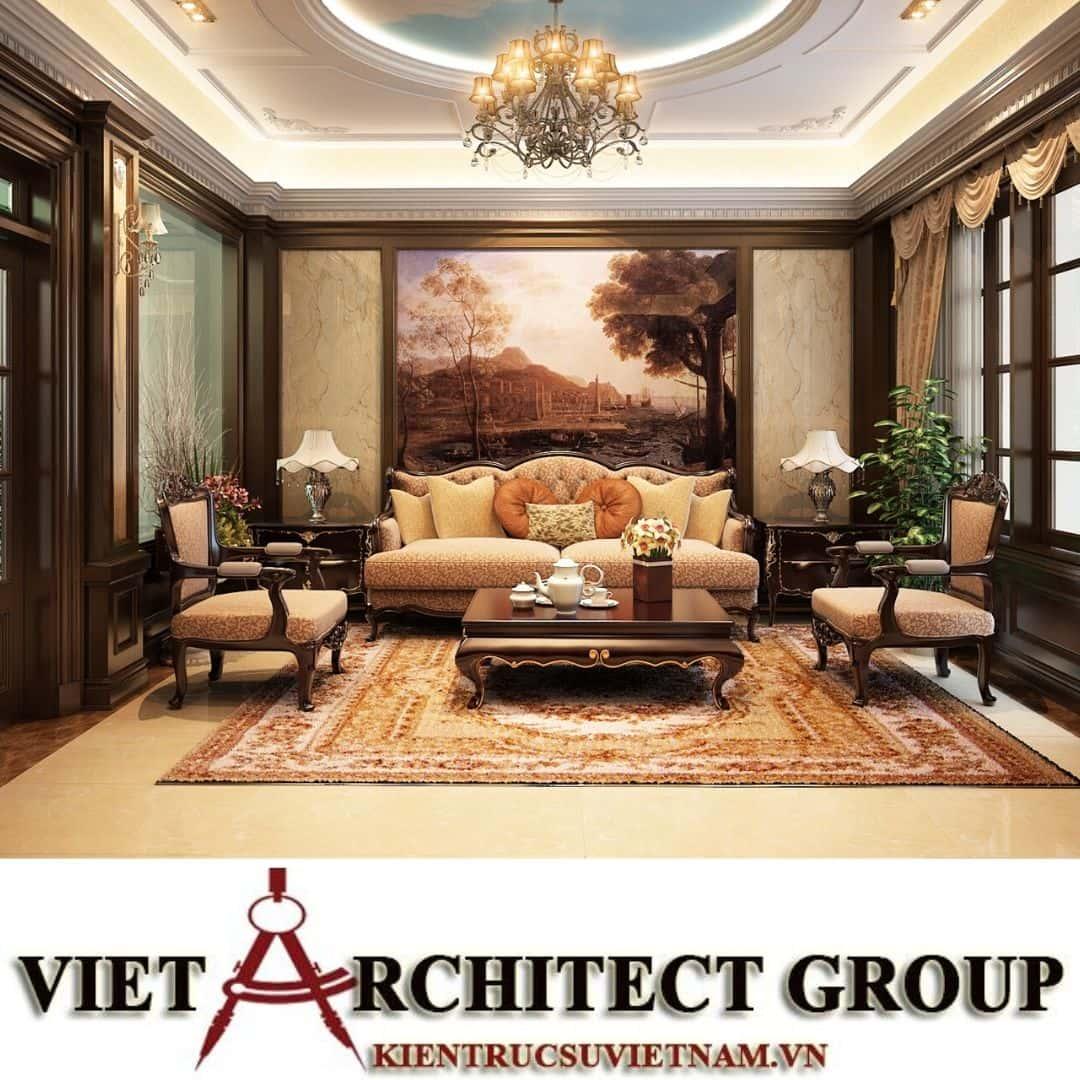 1 20 - Công trình thiết kế biệt thự tân cổ điển 3 tầng tại Hà Nội