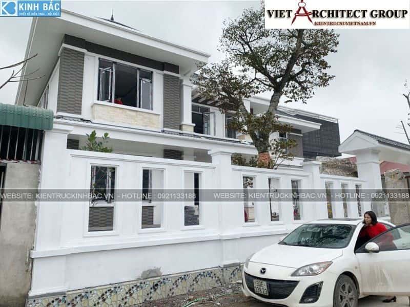 1 21 - Công trình thiết kế biệt thự 2 tầng mái thái anh Cảnh - Hoà Bình