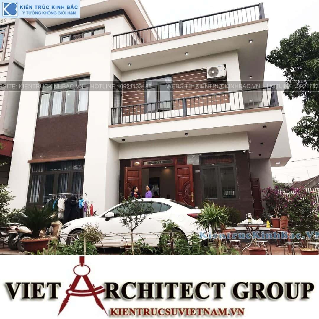 1 24 - Công trình Thiết kế biệt thự 3 tầng hiện đại anh Sơn - Bắc Giang