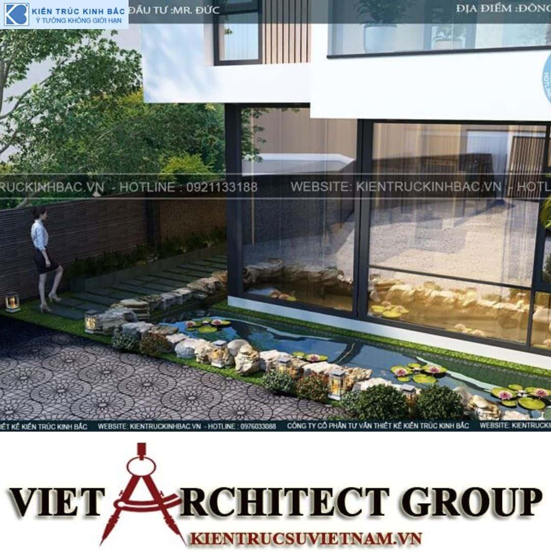 1 25 - Công trình thiết kế biệt thự 3 tầng hiện đại anh Đức - Hà Nội