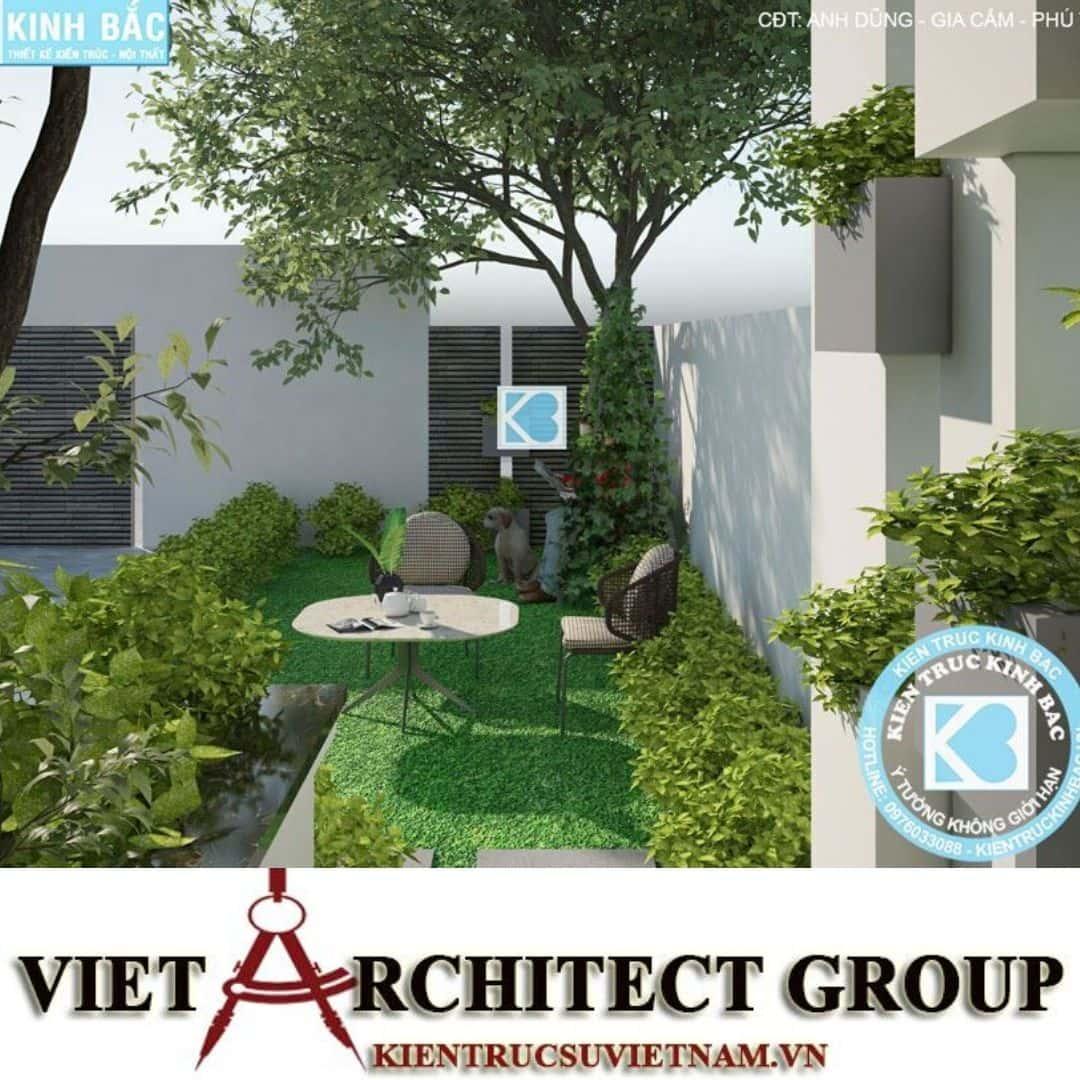 1 26 - Công trình Thiết kế biệt thự 3 tầng hiện đại anh Dũng - Phú Thọ