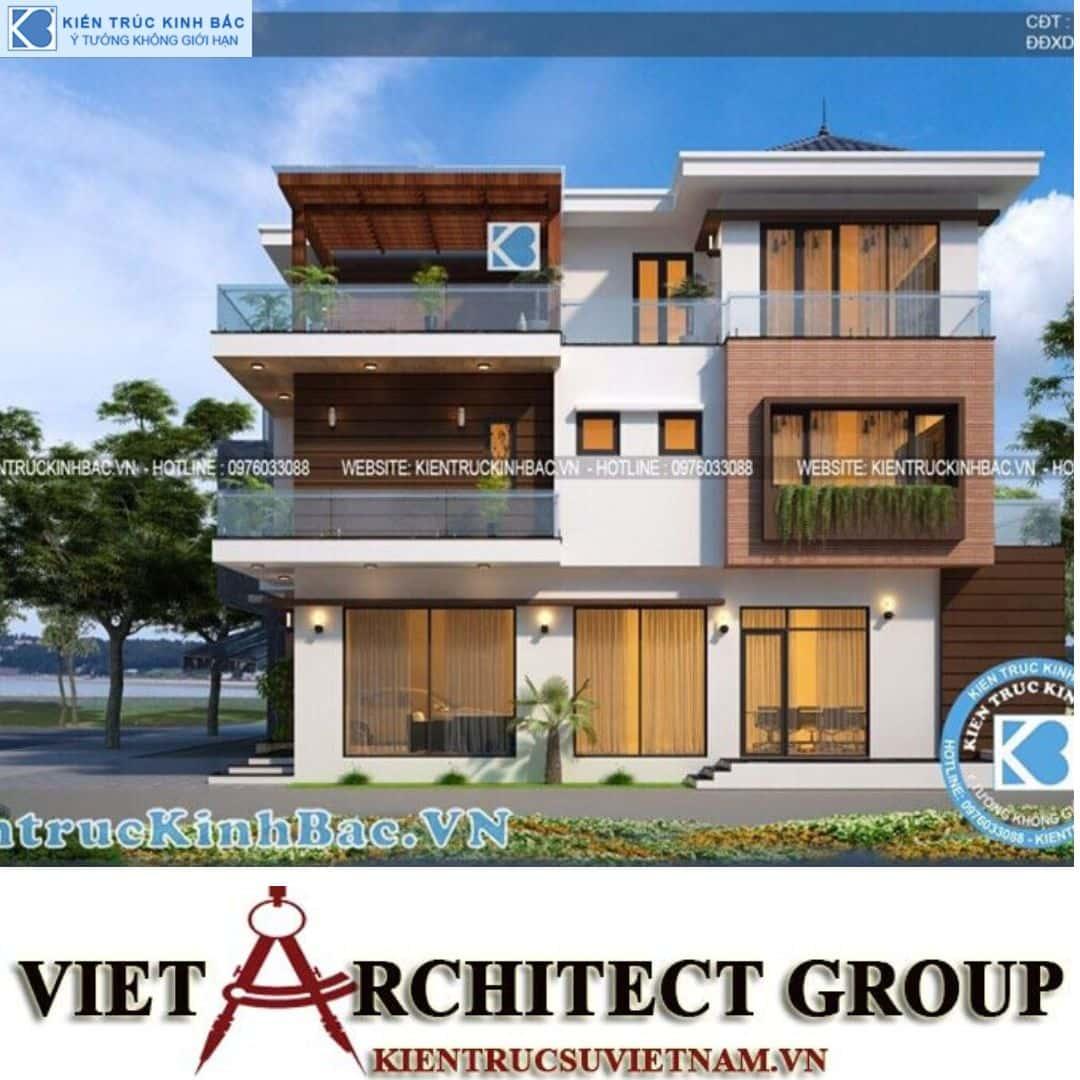 1 31 - Công trình thiết kế biệt thự 3 tầng hiện đại anh Tá - Hà Nội