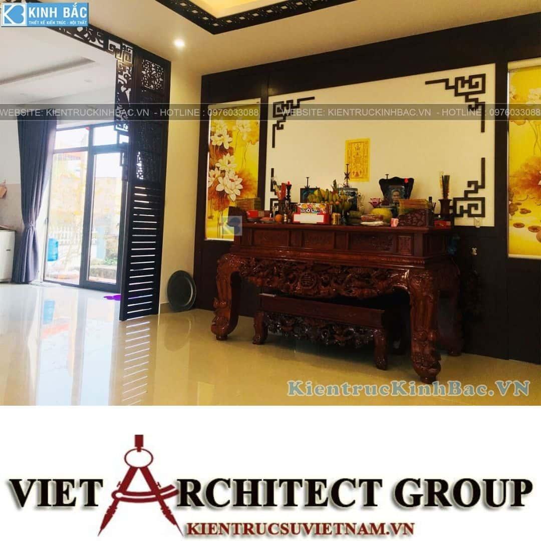 1 34 - Công trình thiết kế biệt thự 1 tầng tại anh Minh - Thái Bình