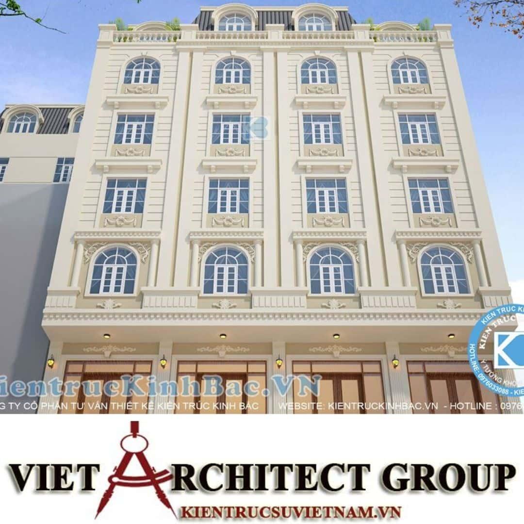 1 35 - Công trình thiết kế khách sạn tân cổ điển chị Nguyệt - Bắc Ninh