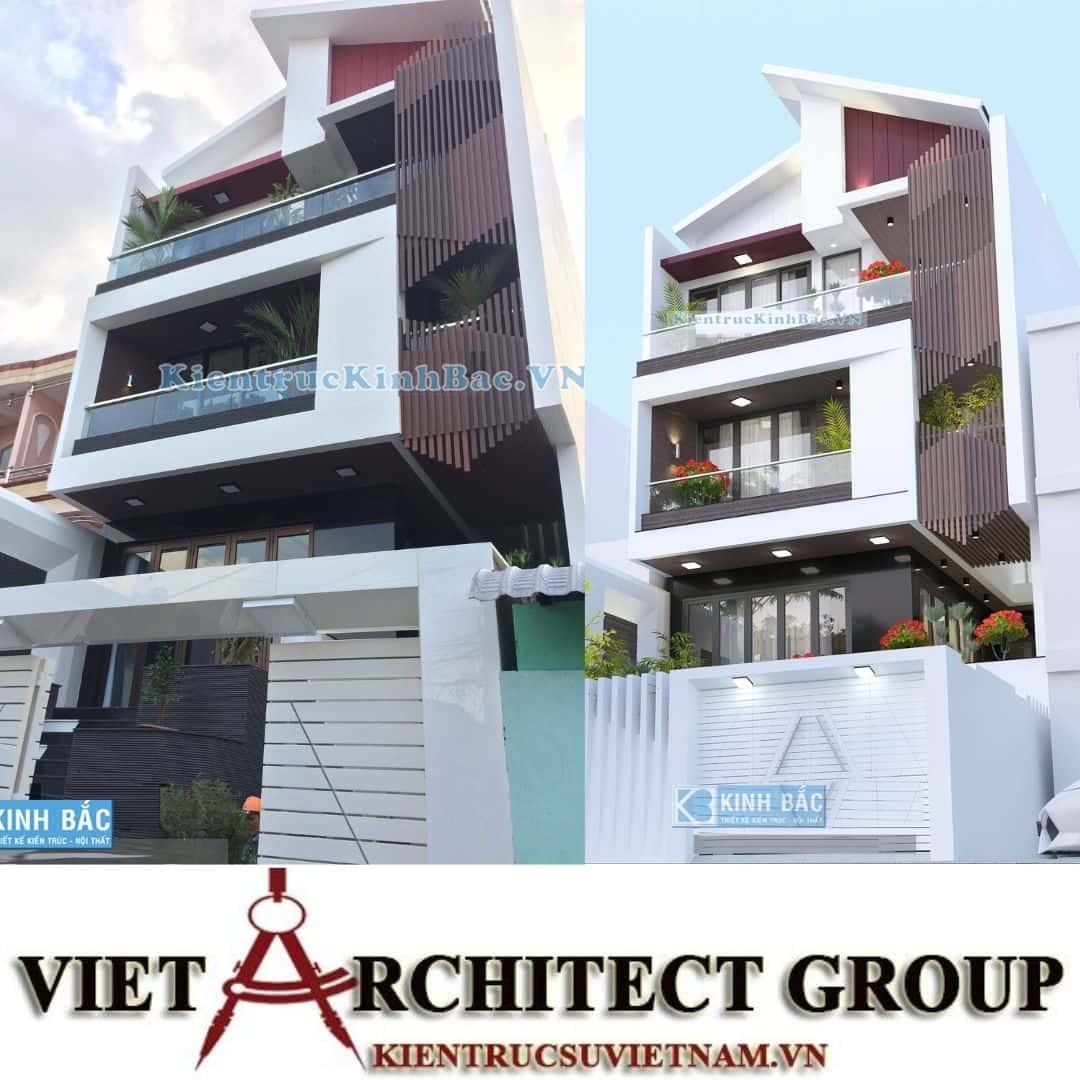 1 41 - Công trình thiết kế nhà phố mặt tiền 7.5m anh Tiến - Hải Phòng