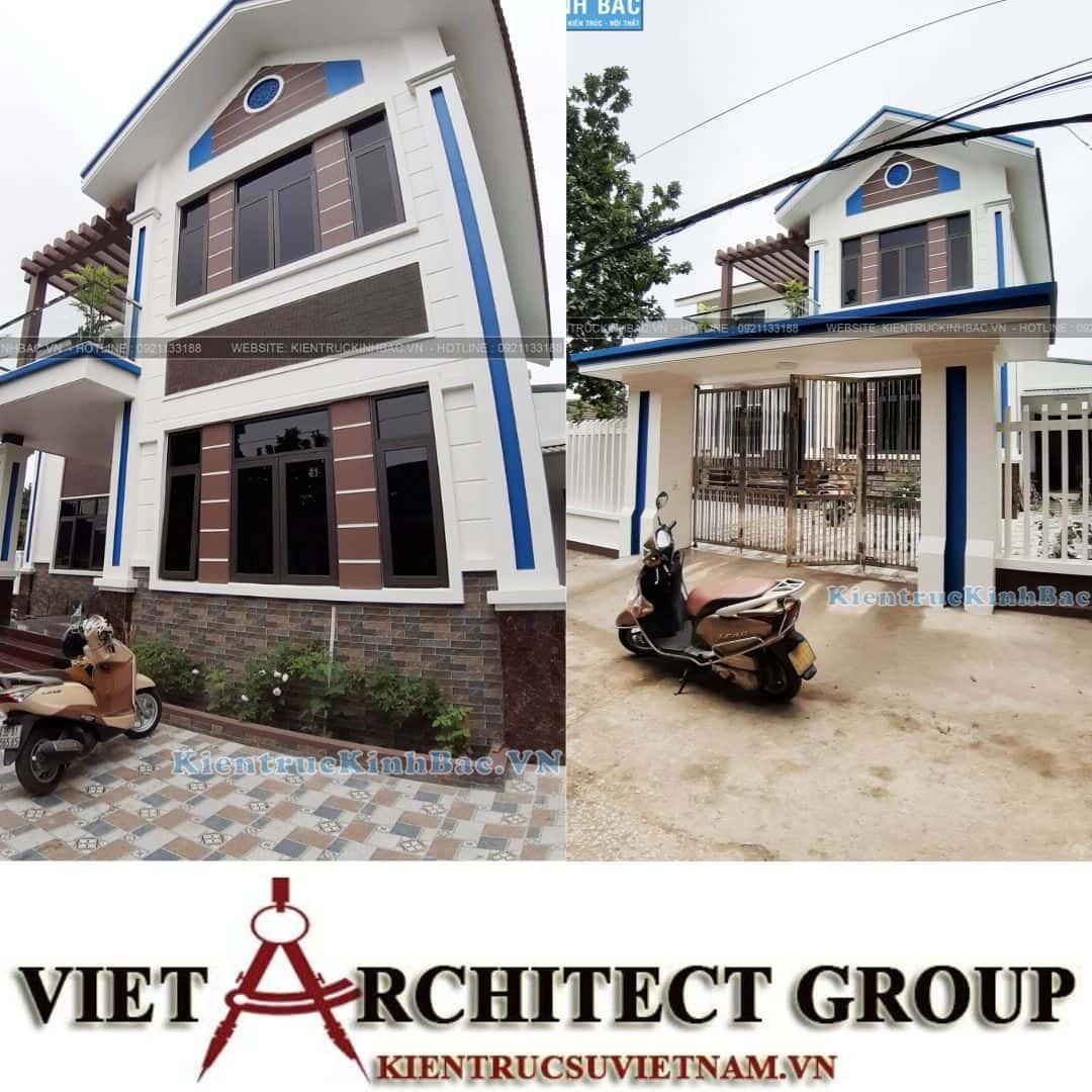 1 44 - Công trình thiết kế biệt thự 2 tầng mái thái anh Quý - Ninh Bình