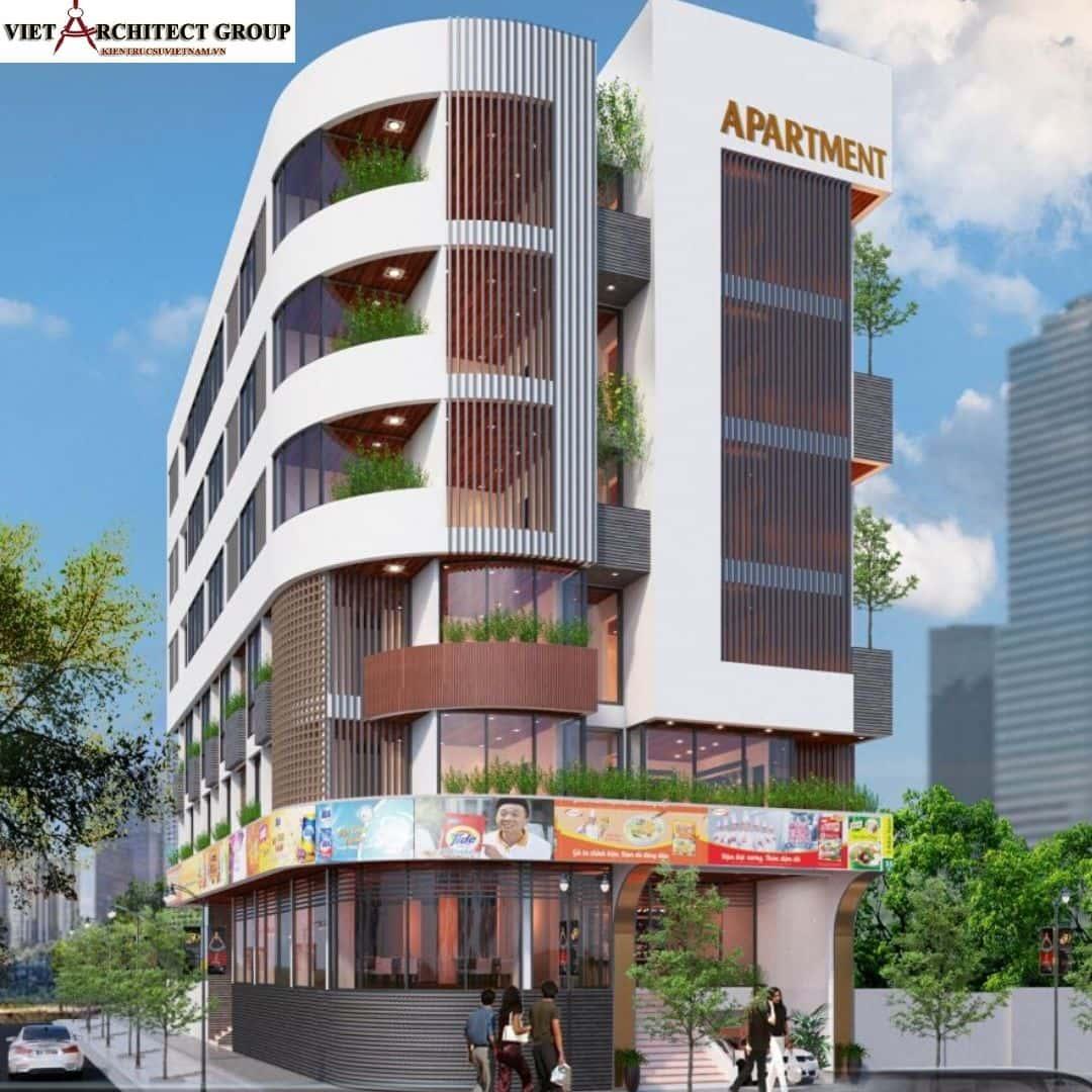 1 45 - Công trình thiết kế căn hộ lô góc phố 2 mặt tiền Lý Nhật Quang - Đà Nẵng